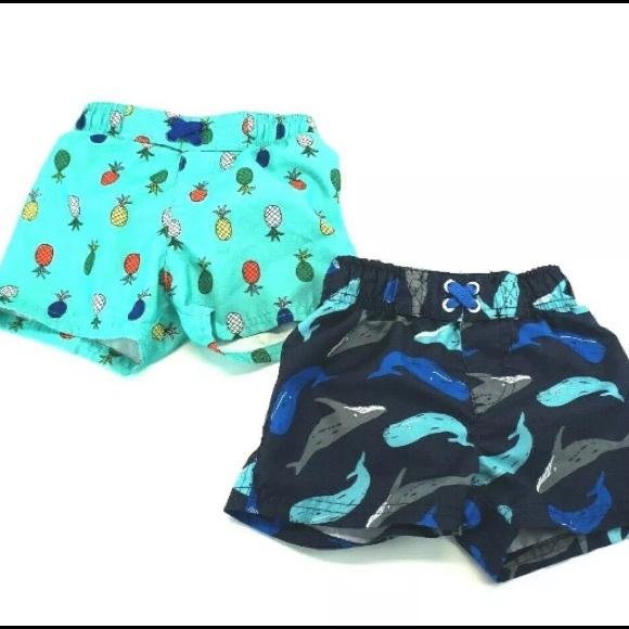 218d111353 Cat & Jack Swim | Cat Jack Trunks Set Of Two 18m | Poshmark